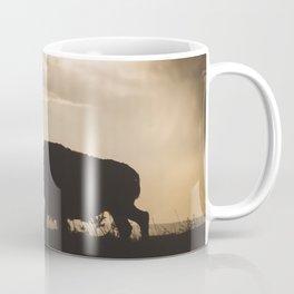 Bison in the Storm - Badlands National Park Coffee Mug