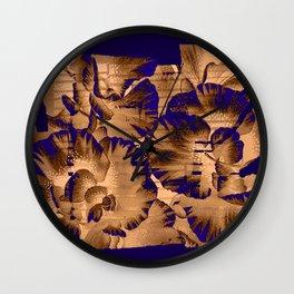 flowers through a pane Wall Clock
