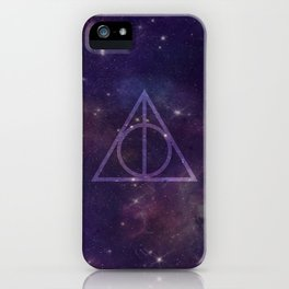 Deathly Hallows in Space iPhone Case