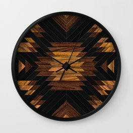 Urban Tribal Pattern No.7 - Aztec - Wood Wall Clock