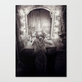 A crying showgirl Canvas Print