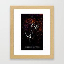 A Tarot of Ink Major Arcana X Wheel of Fortune Framed Art Print