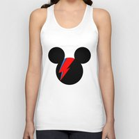 david bowie Tank Tops featuring David Bowie Mouse by Ricardo Silvestre