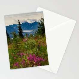 Alaskan Glacier & Fireweed Stationery Cards