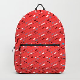Flying heart shaped arrows print, Cupid's weapon Backpack