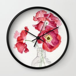 Coquelicots Wall Clock