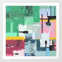 Helios and the Street . Contemporary Urban Abstract Art Print