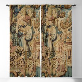 Hunting Flemish Tapestries Blackout Curtain