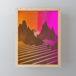RENDER ESCAPES Framed Mini Art Print