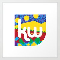 memphis Art Prints featuring Memphis by KAYWAAL