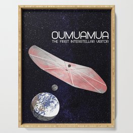 Oumuamua - the solar system's first known interstellar visitor Serving Tray