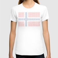 norway T-shirts featuring digital Flag (norway) by seb mcnulty