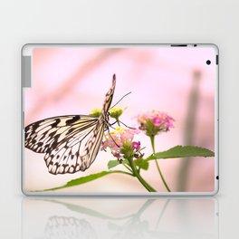 Butterfly on Pink Flowers Laptop & iPad Skin