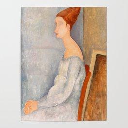 "Amedeo Modigliani ""Portrait of Jeanne Hébuterne"" Poster"