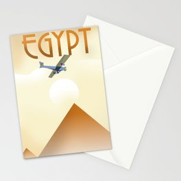 Egypt Travel poster Stationery Cards