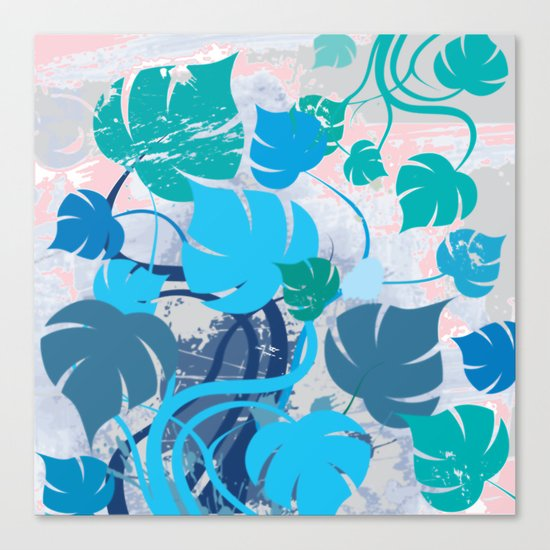 Monstera cavalcade Canvas Print