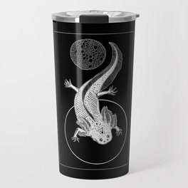 Space Axolotl (white) Travel Mug