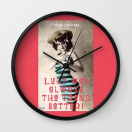 Lucy: Vintage Darling Wall Clock