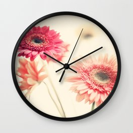 Sweet Side  (retro flower photography) Wall Clock