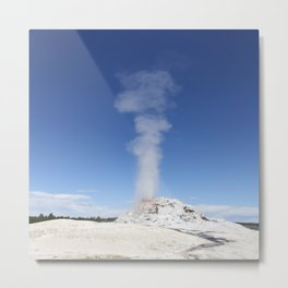 White Dome Eruption Metal Print