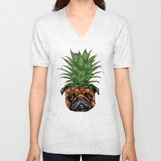 Pineapple Pug Unisex V-Neck