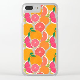 Grapefruit Harvest Clear iPhone Case