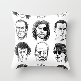80s Action Stars Throw Pillow