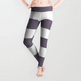 Rum - solid color - white stripes pattern Leggings