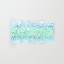 Aqua Seafoam Ocean Glitter #1 #shiny #pastel #decor #art #society6 Hand & Bath Towel