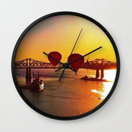 The Great Mississippi River Balloon Race Wall Clock