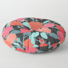 Rose Garden - Dark Floor Pillow