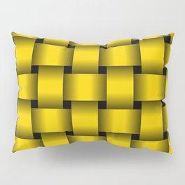 Large Gold Yellow Weave Pillow Sham