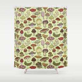 Mushroom Circle Shower Curtain