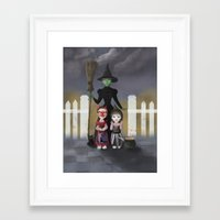 coven Framed Art Prints featuring Coven by Rustic robin designs