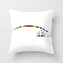 The Goodbye Rainbow Throw Pillow