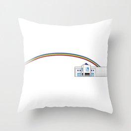 The Goodbye Rainbow Throw Pillow