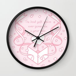 The Best Gift is your Love Wall Clock