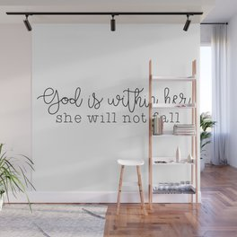 God Is Within Her Wall Mural