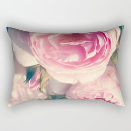 Shabby Chic Flowers, Ranunculus Roses, Spring, Romantic Floral Decor Rectangular Pillow