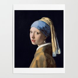 GIRL WITH A PEARL EARRING - JOHANNES VERMEER Poster