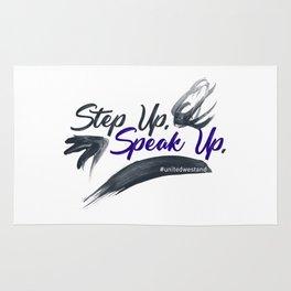 Step Up Speak Up United Unity Kneel Kneeling Rug