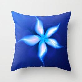 La Fleur Magique de la Sorcière Fractal Throw Pillow