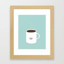 Kawaii Coffee Framed Art Print