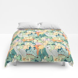 Cute Dino Pattern Comforters
