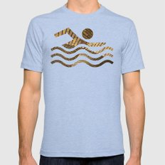 Brickstone waves MEDIUM Mens Fitted Tee Tri-Blue