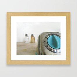 retro timer Framed Art Print