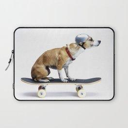 Skate Punk - Skateboarding Chihuahua Dog inTiny Helmet Laptop Sleeve
