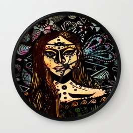Andromedan Goddess Wall Clock