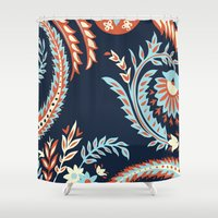 flora Shower Curtains featuring Flora by Tracie Andrews