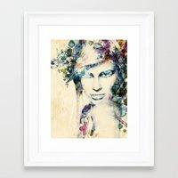 tiffany Framed Art Prints featuring Tiffany by grafiklab